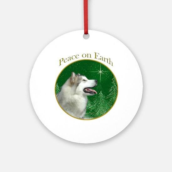 Malamute Peace Ornament (Round)