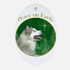 Malamute Peace Oval Ornament