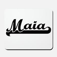 Maia Classic Retro Name Design Mousepad