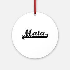 Maia Classic Retro Name Design Ornament (Round)
