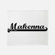 Makenna Classic Retro Name Design Throw Blanket