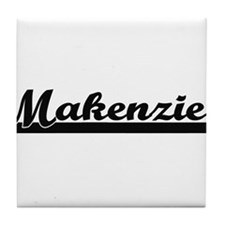 Makenzie Classic Retro Name Design Tile Coaster
