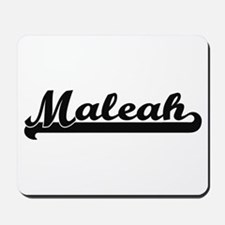 Maleah Classic Retro Name Design Mousepad