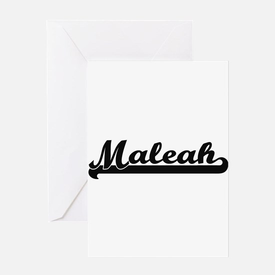 Maleah Classic Retro Name Design Greeting Cards