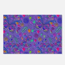 purple butterflies and he Postcards (Package of 8)