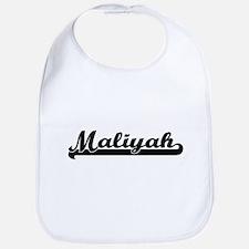 Maliyah Classic Retro Name Design Bib