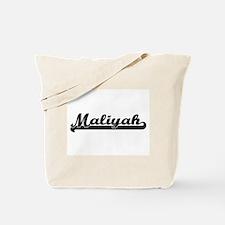 Maliyah Classic Retro Name Design Tote Bag