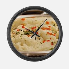 Mashed Potatoes Large Wall Clock