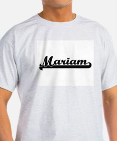 Mariam Classic Retro Name Design T-Shirt