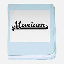 Mariam Classic Retro Name Design baby blanket