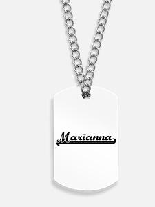 Marianna Classic Retro Name Design Dog Tags