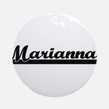 Marianna Classic Retro Name Desig Ornament (Round)