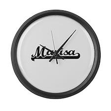 Marisa Classic Retro Name Design Large Wall Clock