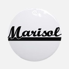 Marisol Classic Retro Name Design Ornament (Round)