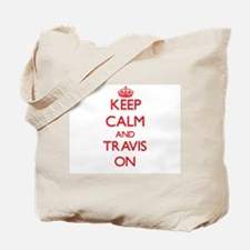 Keep Calm and Travis ON Tote Bag