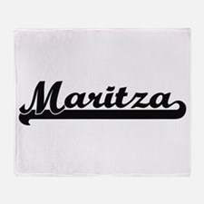Maritza Classic Retro Name Design Throw Blanket