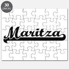 Maritza Classic Retro Name Design Puzzle