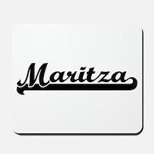 Maritza Classic Retro Name Design Mousepad
