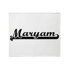 Maryam Classic Retro Name Design Throw Blanket