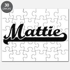 Mattie Classic Retro Name Design Puzzle
