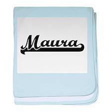Maura Classic Retro Name Design baby blanket