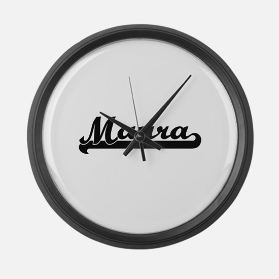 Maura Classic Retro Name Design Large Wall Clock