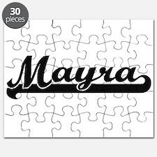 Mayra Classic Retro Name Design Puzzle