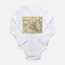 Vintage Map of Maryland (1796) Body Suit