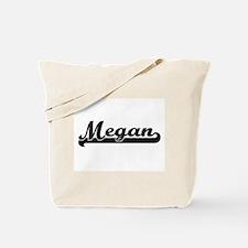 Megan Classic Retro Name Design Tote Bag