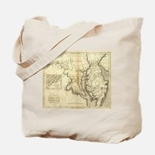 Vintage Map of Maryland (1796) Tote Bag