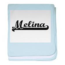 Melina Classic Retro Name Design baby blanket