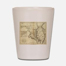 Vintage Map of Maryland (1796) Shot Glass