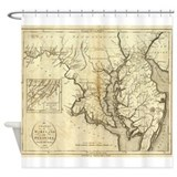 Maryland map Shower Curtains