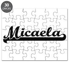 Micaela Classic Retro Name Design Puzzle