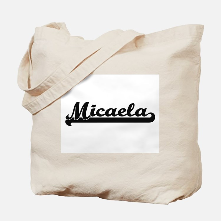 Micaela Classic Retro Name Design Tote Bag