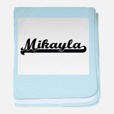 Mikayla Classic Retro Name Design baby blanket