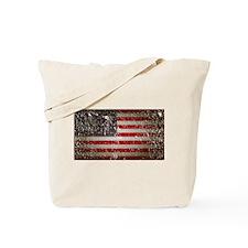US Flag distressed Tote Bag