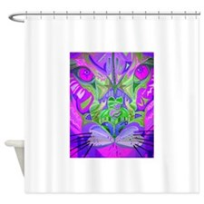 cougar-pink.png Shower Curtain