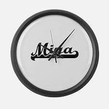 Miya Classic Retro Name Design Large Wall Clock