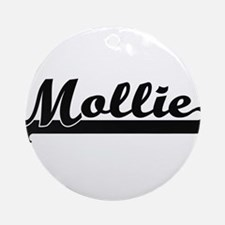 Mollie Classic Retro Name Design Ornament (Round)