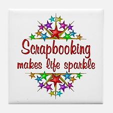 Scrapbooking Sparkles Tile Coaster