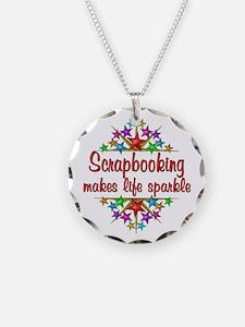 Scrapbooking Sparkles Necklace