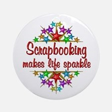 Scrapbooking Sparkles Ornament (Round)