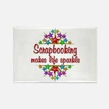 Scrapbooking Sparkles Rectangle Magnet
