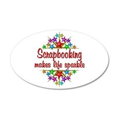 Scrapbooking Sparkles Wall Decal