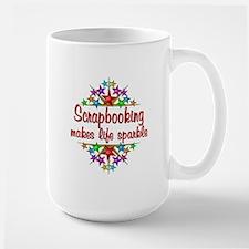 Scrapbooking Sparkles Large Mug