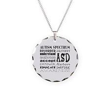 Funny Asd Necklace Circle Charm