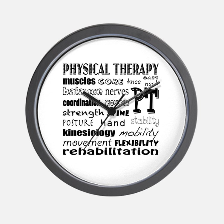 Cute Physical therapy Wall Clock