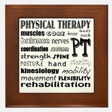 Unique Physical therapy Framed Tile