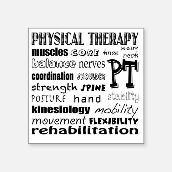 """Cute Physical therapy Square Sticker 3"""" x 3"""""""